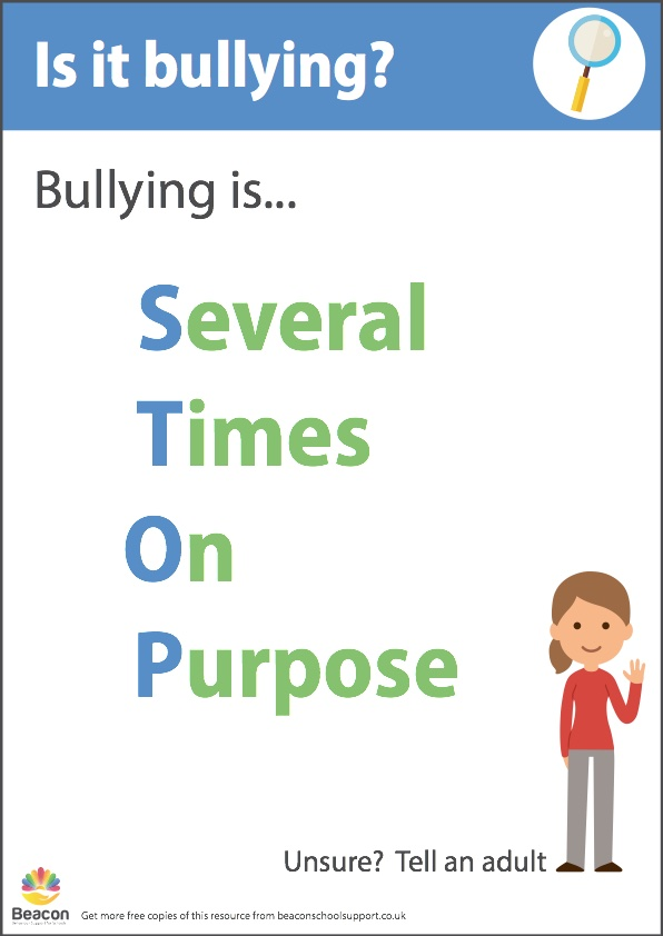 Antibullying STOP poster