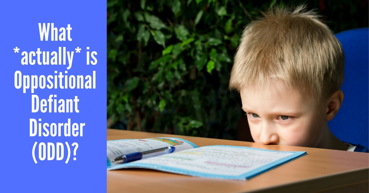 What actually is Oppositional Defiant Disorder (ODD)?