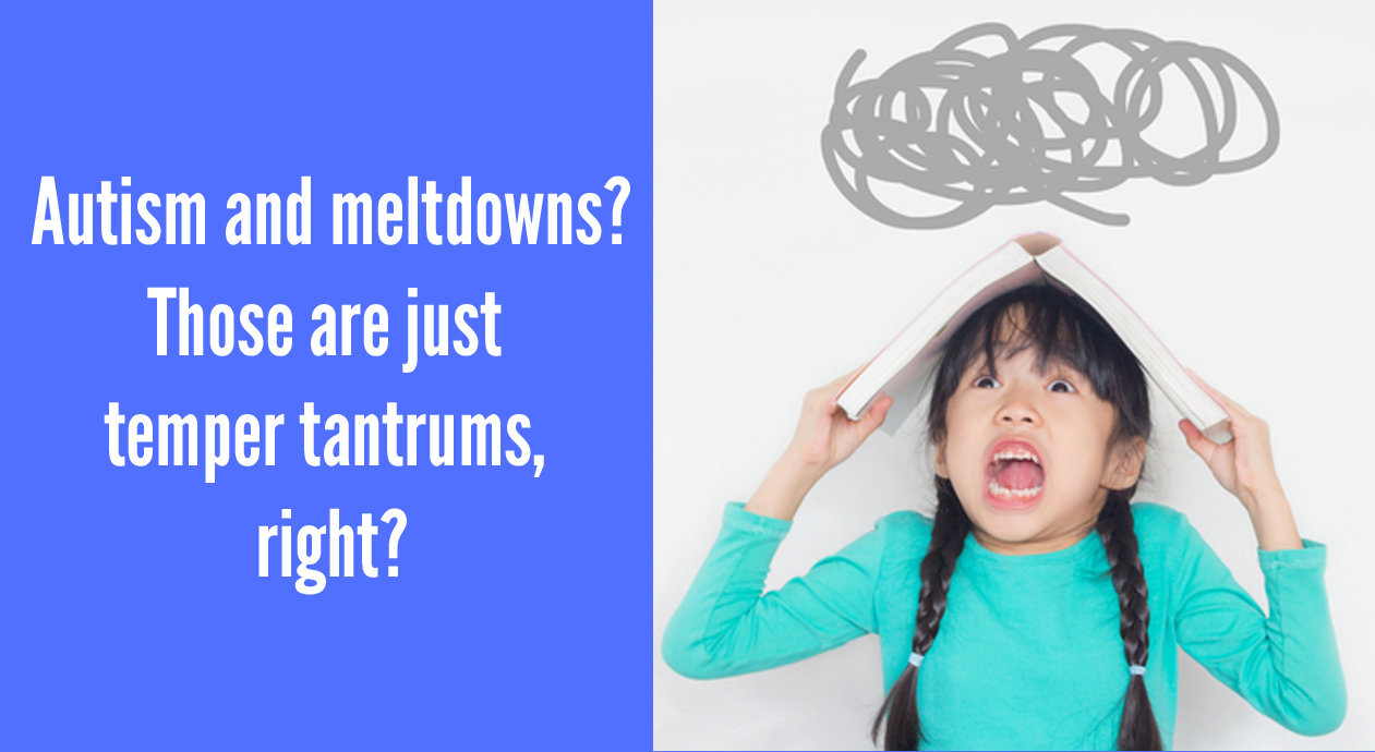 Autism and meltdowns: those are just temper tantrums - right?