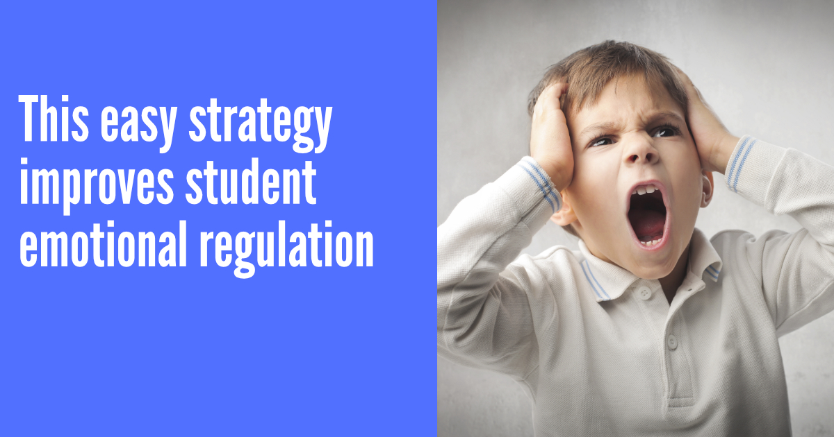 This easy strategy improves student emotional regulation
