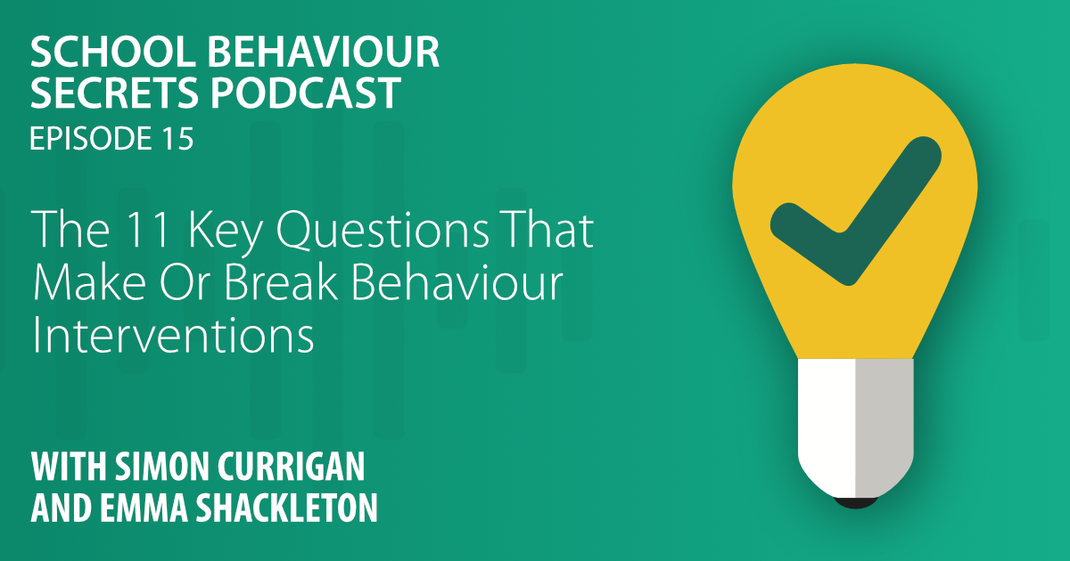 The 11 Key Questions That Make Or Break Behaviour Interventions