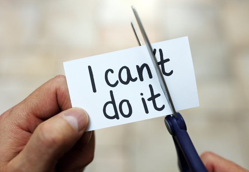 The message 'I can do it'