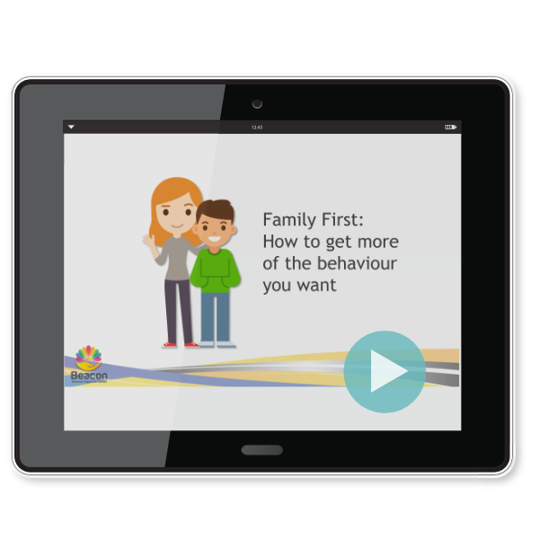 A Family First video being watched on a tablet computer